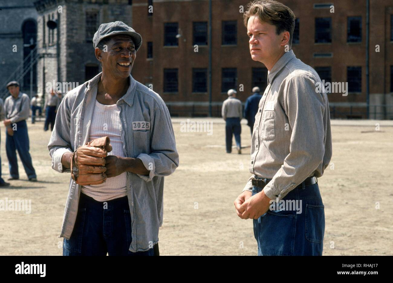 THE SHAWSHANK REDEMPTION, MORGAN FREEMAN , TIM ROBBINS, 1994 - Stock Image