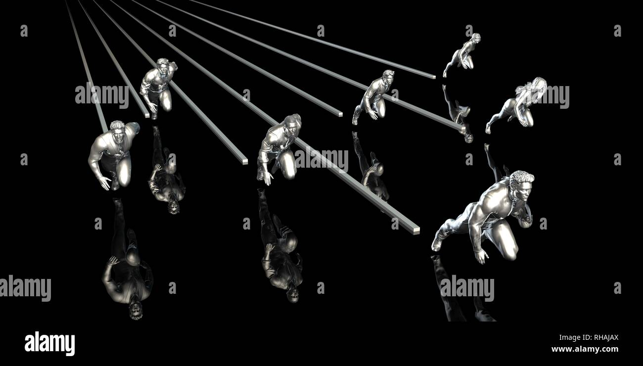 Business Challenges and Succeeding Over Your Competitors - Stock Image