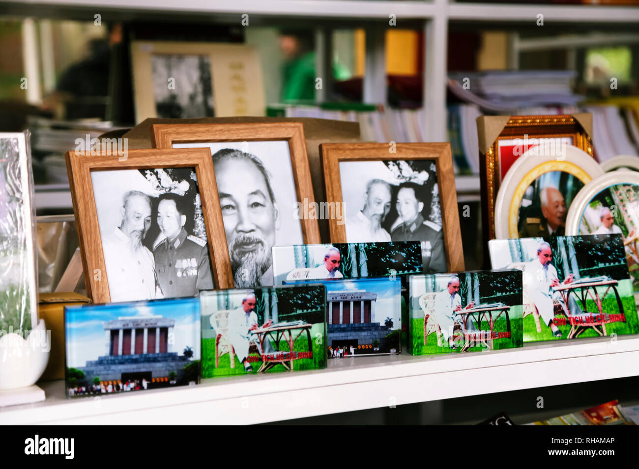 Hanoi, VIETNAM - JANUARY 12, 2015 - Souvenir photos of Ho Chi Minh - Stock Image