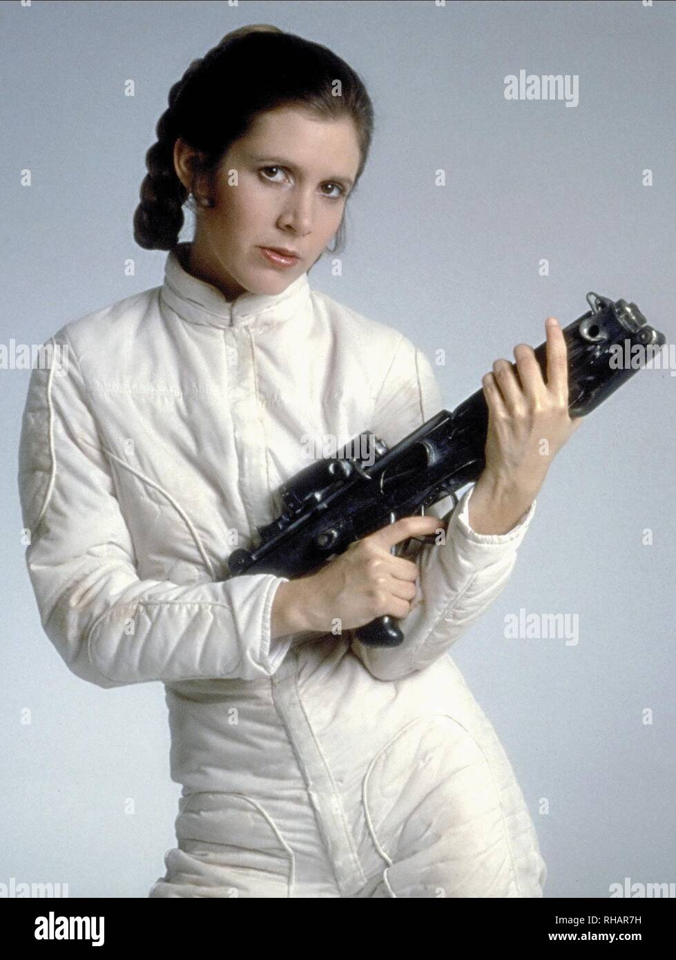 CARRIE FISHER, STAR WARS: EPISODE V - THE EMPIRE STRIKES BACK, 1980 - Stock Image