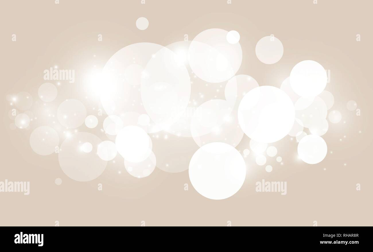 Abstract background with white bokeh effect  Template of lights for