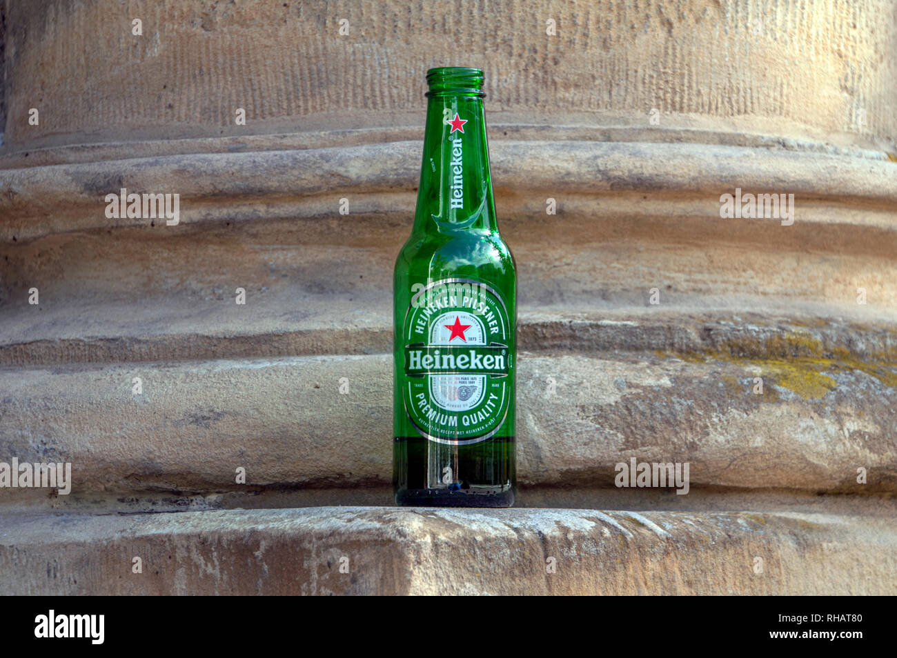 Forgotten Heineken Bottle At Amsterdam The Netherlands 2018 - Stock Image