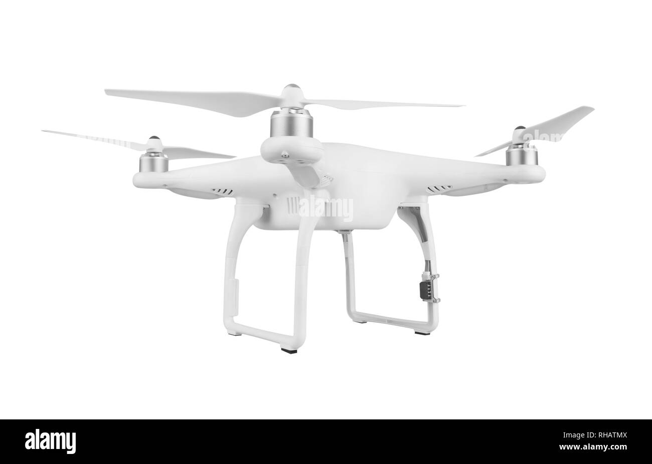 Drone, quadrocopter, isolated on white background. - Stock Image