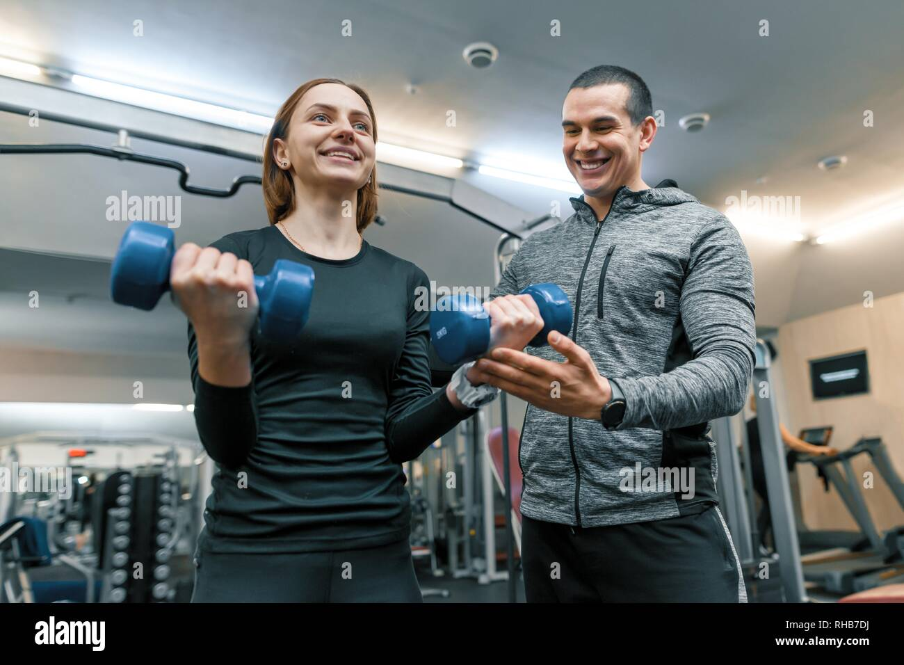 Female Trainer Gym Weight Lift Stock Photos  Female -5155