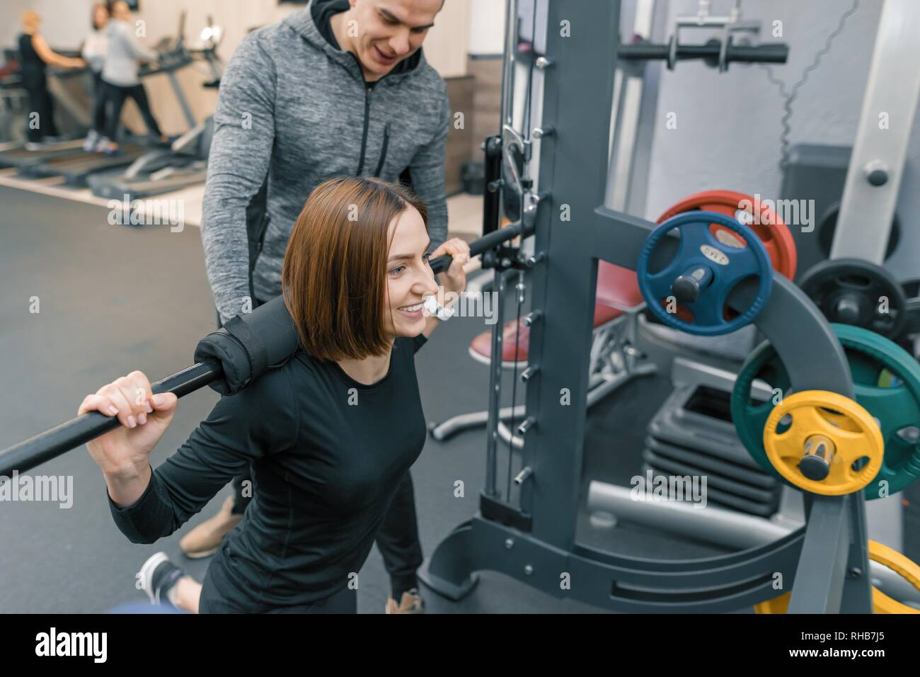 Female Trainer Gym Weight Lift Stock Photos  Female -6091
