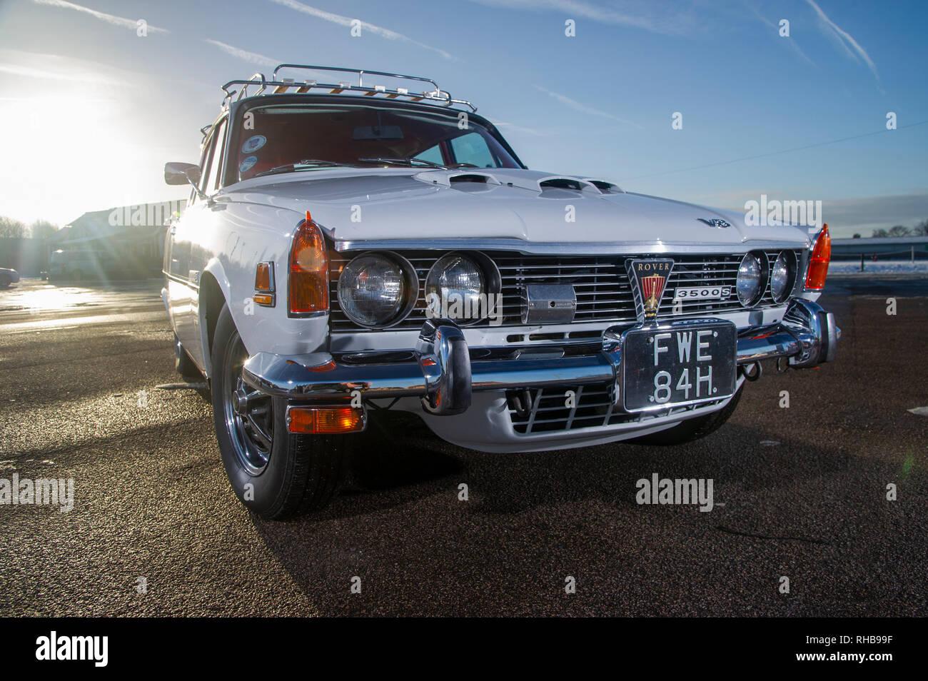 1970 NADA spec Rover 3500S (P6) - American spec classic Rover V8 saloon Stock Photo