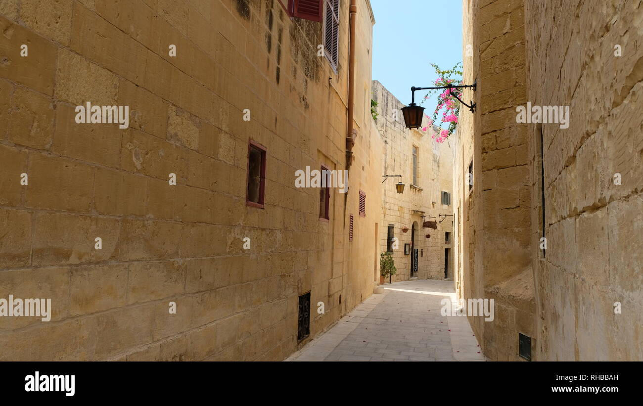 Mdina, in the island of Malta, is one of the most popularly visited places by travellers. It´s history traces back more than 4000 years. - Stock Image