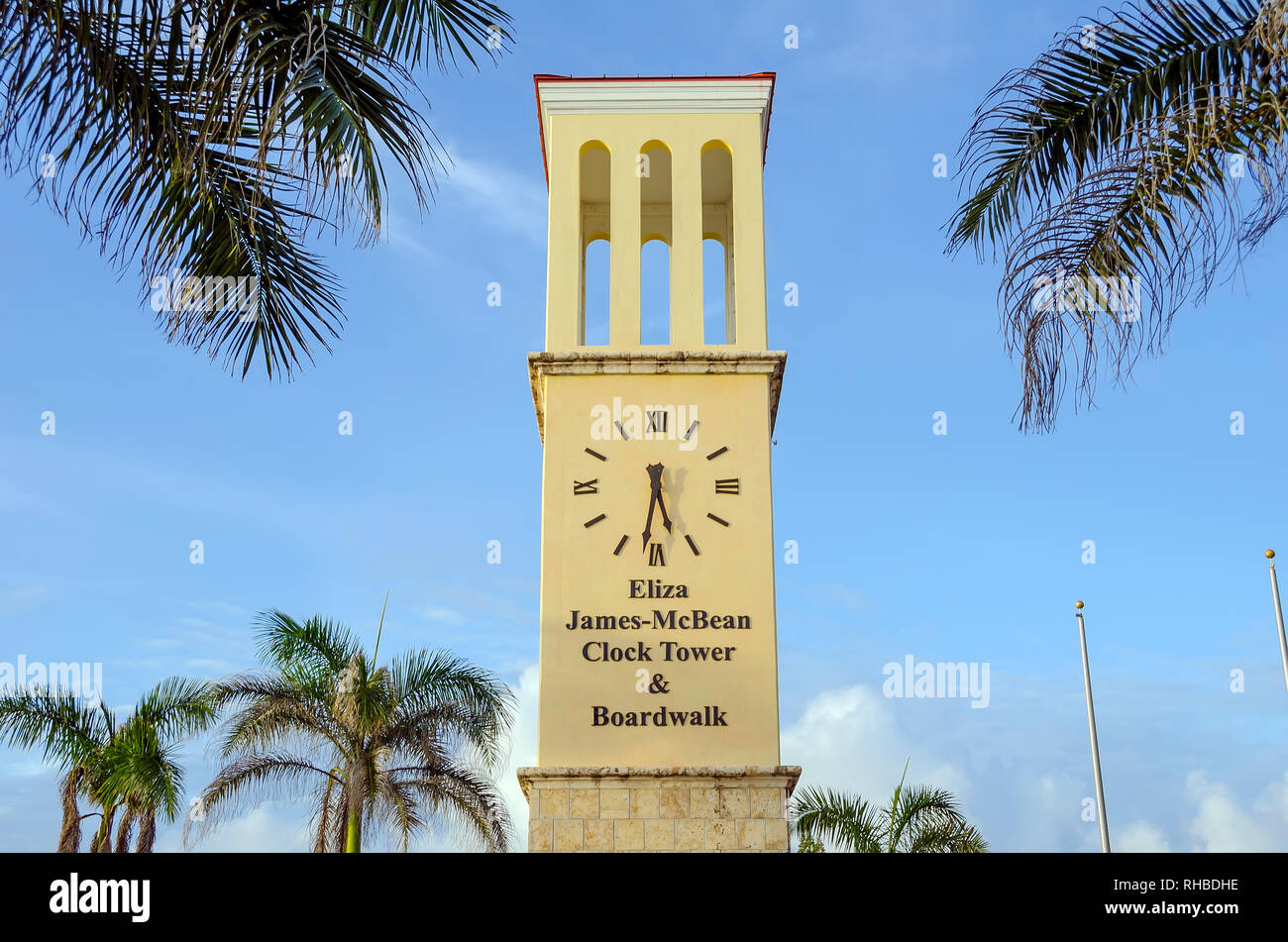 Eliza James-McBean Clock Tower Frederiksted Saint Croix U.S. Virgin Islands - Stock Image
