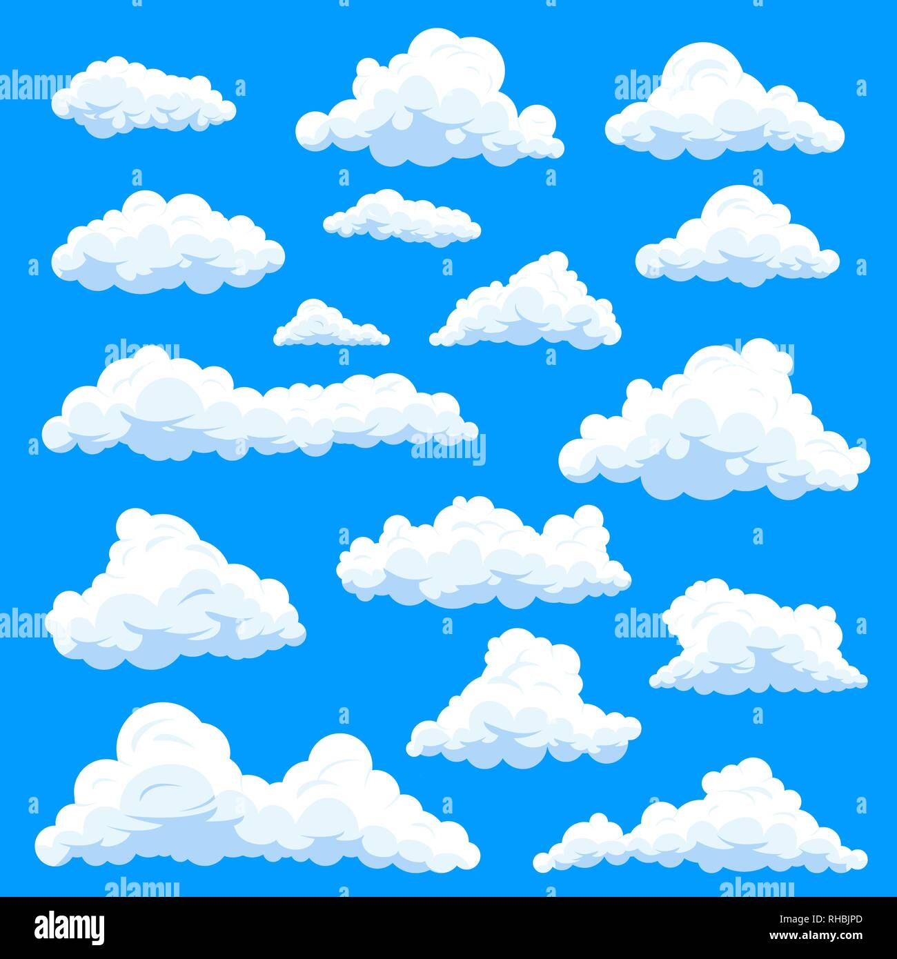 Set eddy or clouds at sky - Stock Image