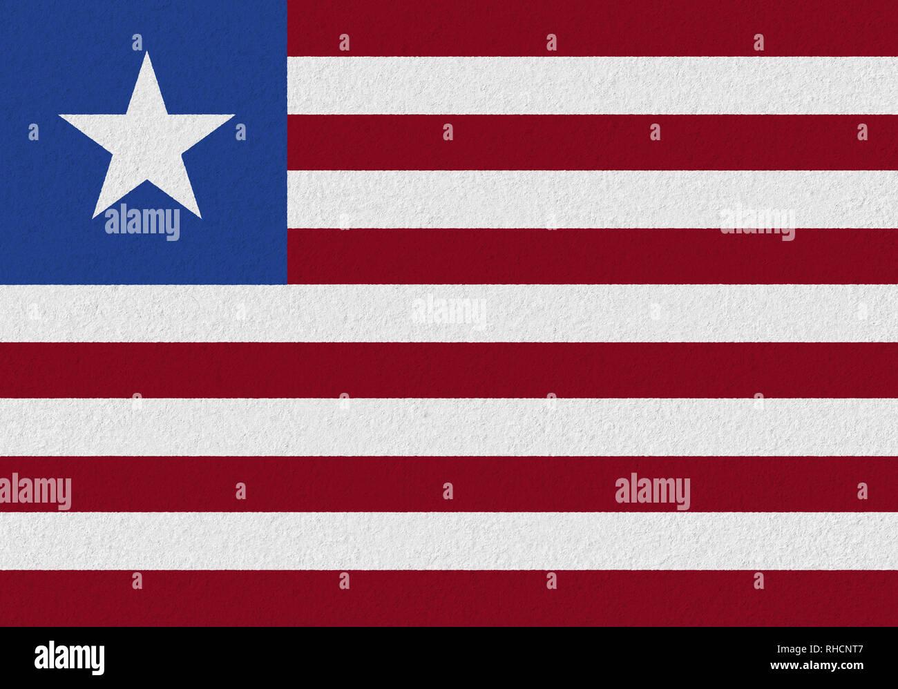 Liberia paper flag. Patriotic background. National flag of Liberia - Stock Image