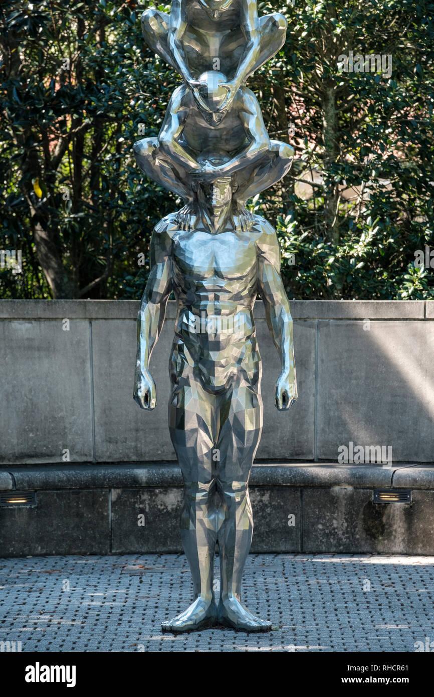 Karma, by Korean artist Do-ho Suh, New Orleans Sculpture Garden, New Orleans Museum of Art, NOMA, New Orleans, Louisiana.