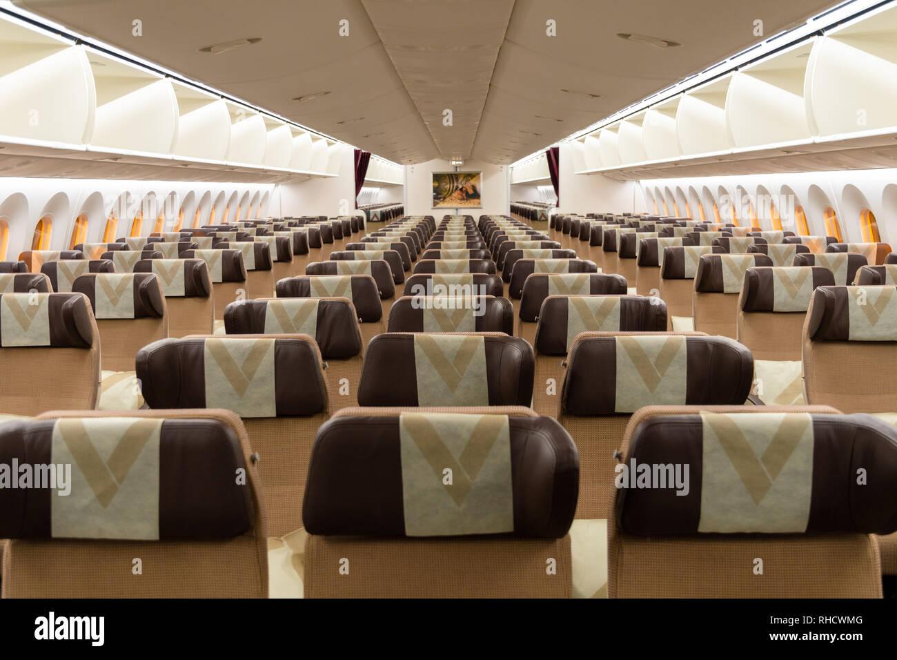 Boeing 787 Dreamliner Interior Stock Photos & Boeing 787