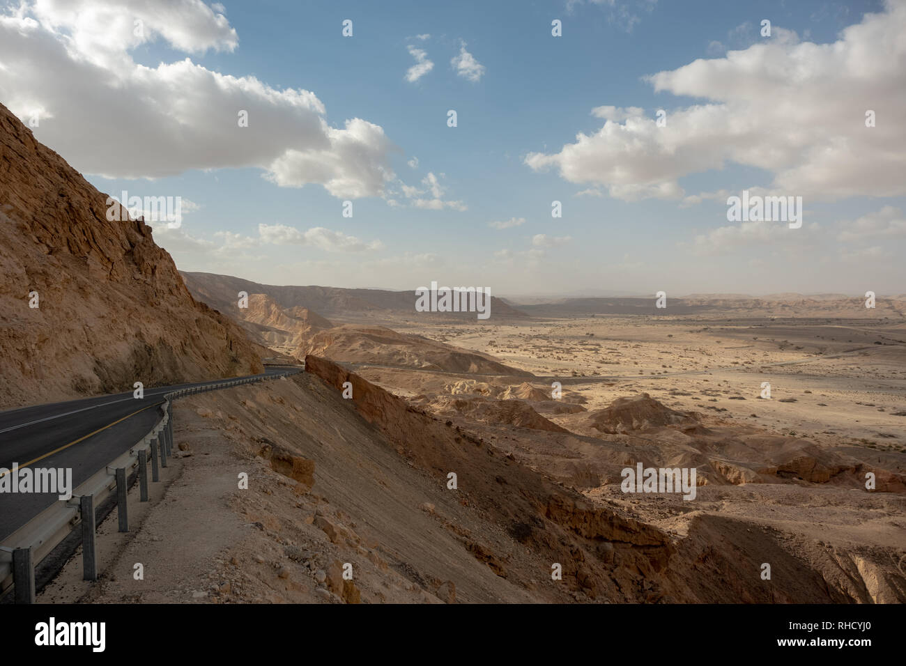 Route 40 through Mitzpe Ramon in Southern Israel - Stock Image