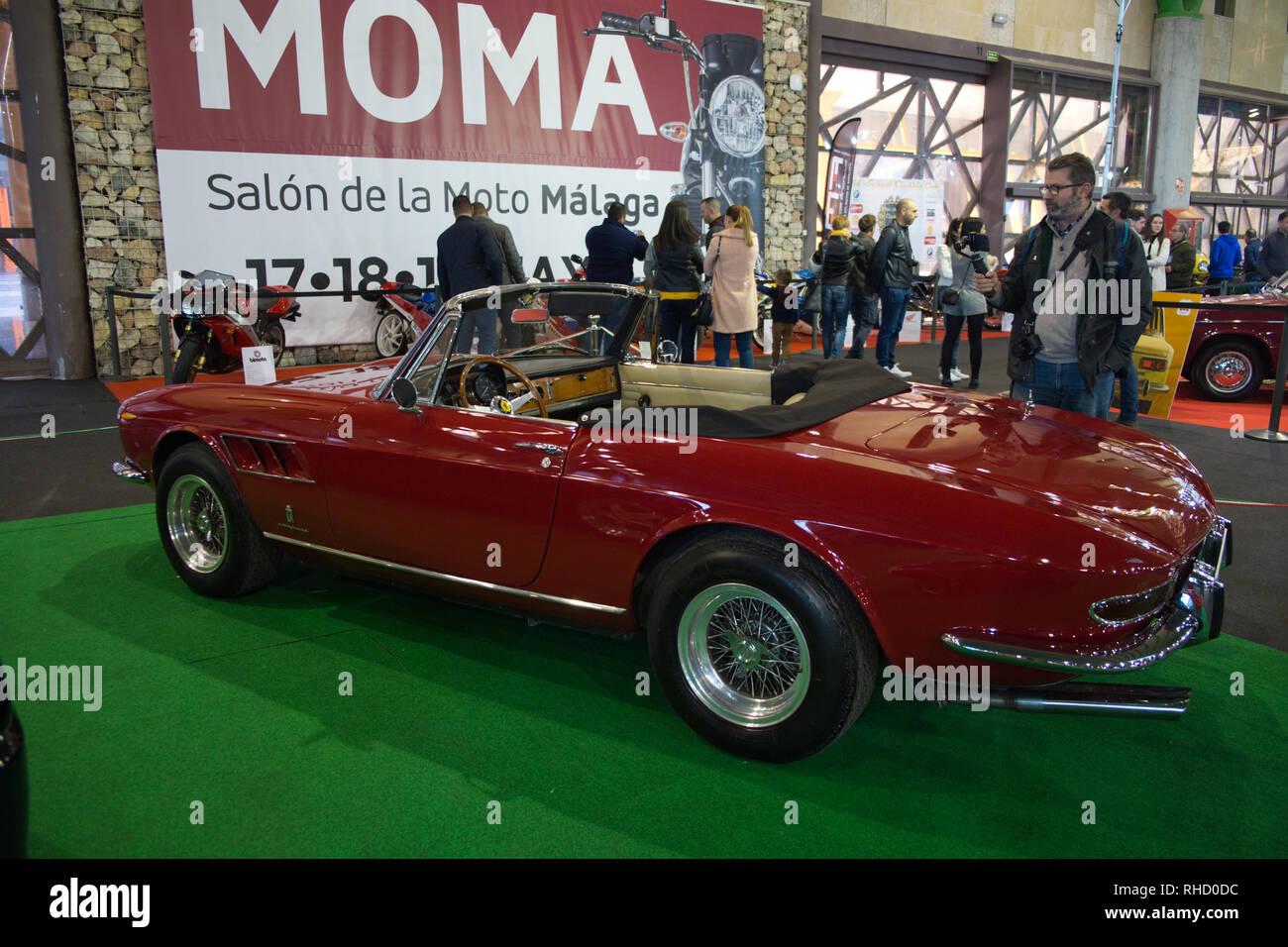 1967 Ferrari 330 GTS. Retro Málaga 2019. Spain. - Stock Image