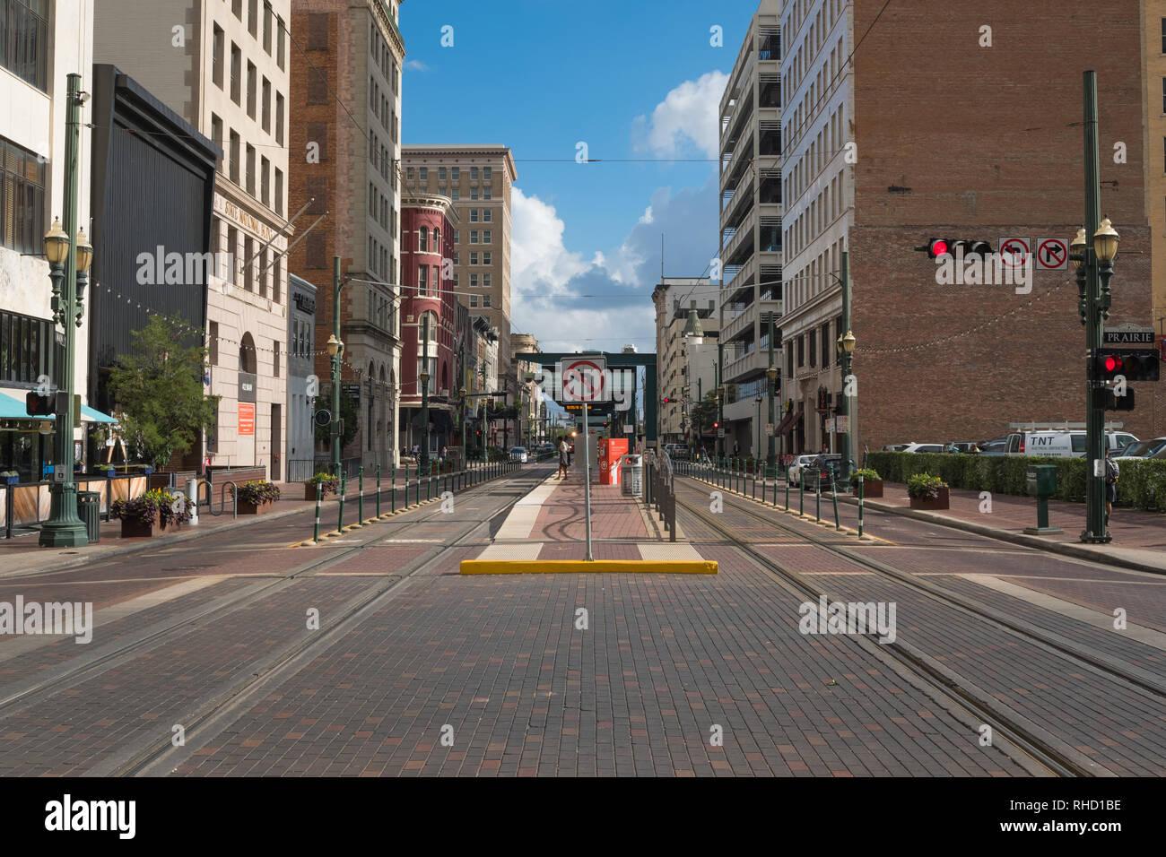 Preston Station, Main Street, Houston, Texas - Stock Image