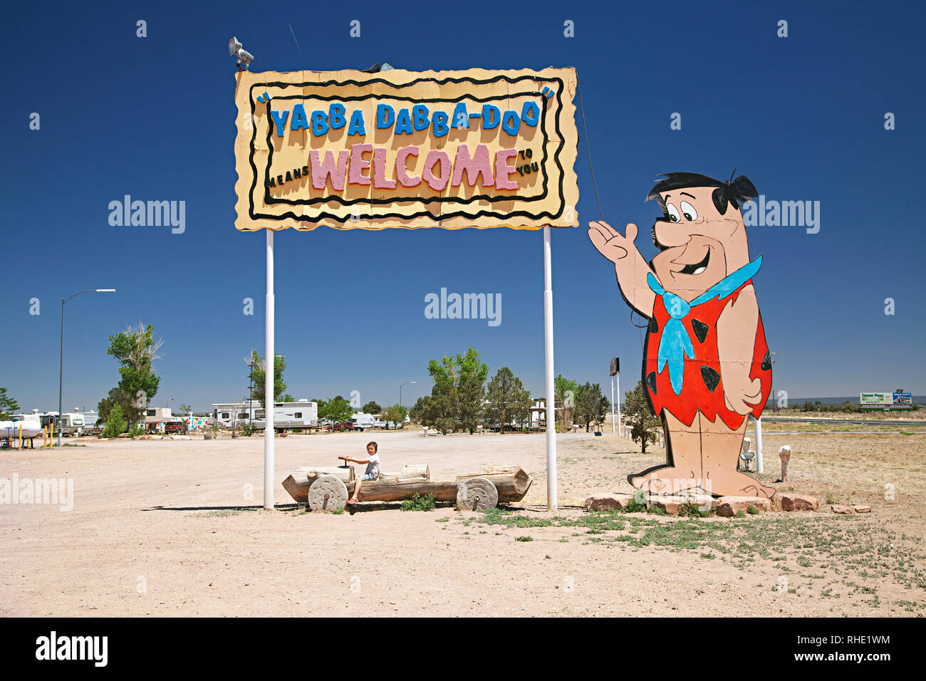 212e7171b0374 Bedrock City in Arizona. A retro Flinstones themed park situated on Highway  101 between Williams