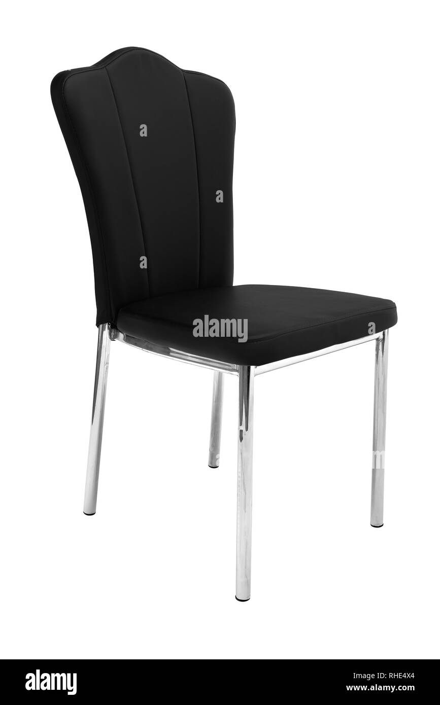 Kitchen elegant chair. Modern black leather chair for dining and ...