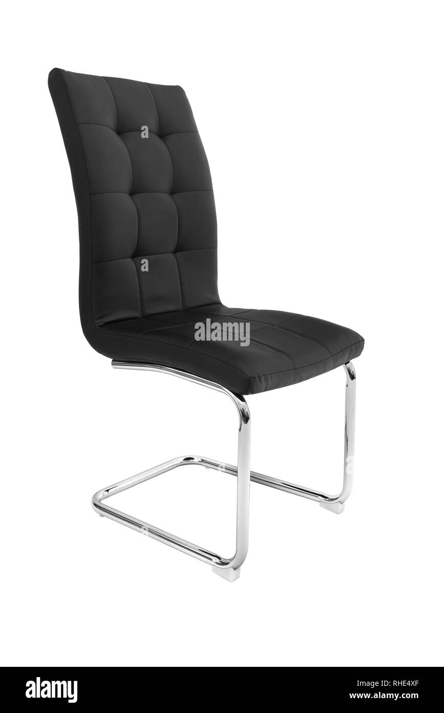 Kitchen Elegant Chair Modern Black Leather Chair For Dining And