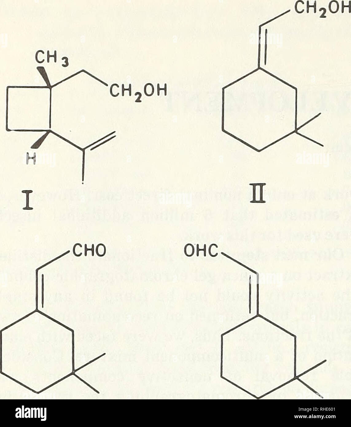 """. Boll weevil suppression, management, and elimination technology : proceedings of a conference, February 13-15, 1974, Memphis, Tennessee. Boll weevil, Control, Congresses. Figure 1.—Compounds. I, ( + )-ci's-2-Isopropenyl-l- methylcyclobutaneethanol. II, Z-3,3-Dimethyl-AK