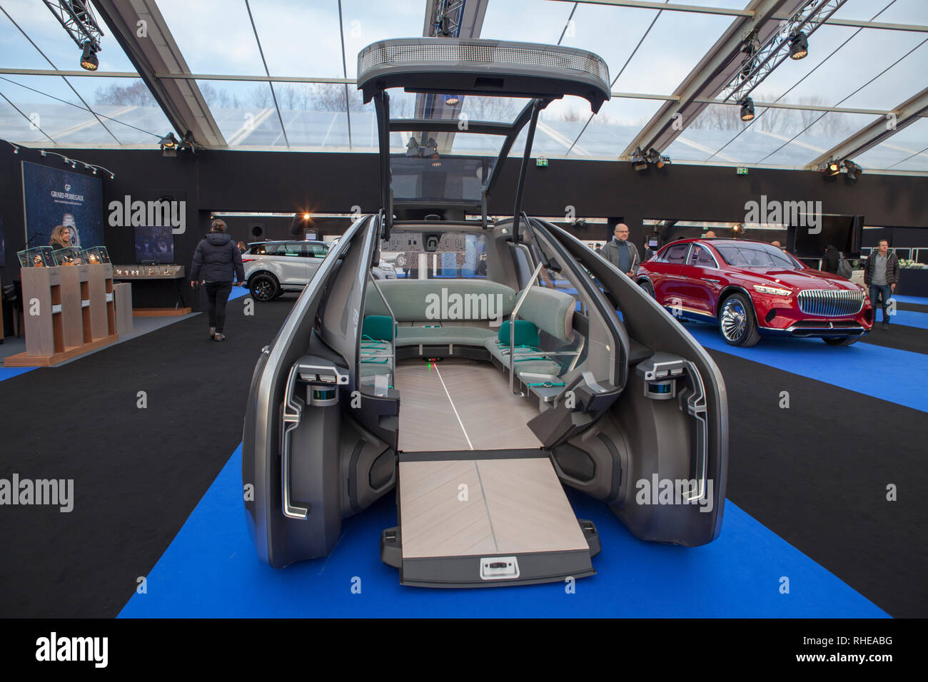 Many of Concept Cars and Design were presented at the Invalide in Paris or had the election of the most beautiful car of the year. Stock Photo