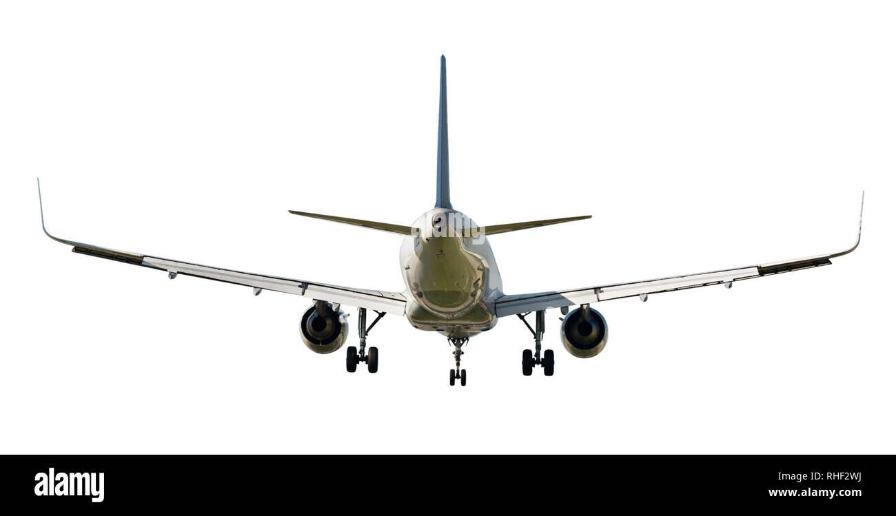 Large passenger plane isolated on white background Stock Photo