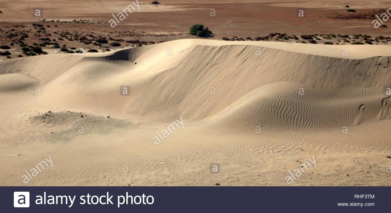 White dune in Western Sahara - Stock Image