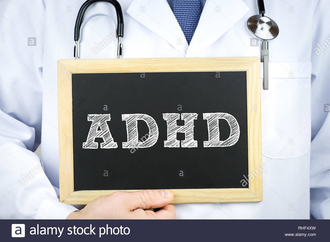 ADHD - Attention deficit hyperactivity disorder - Stock Image