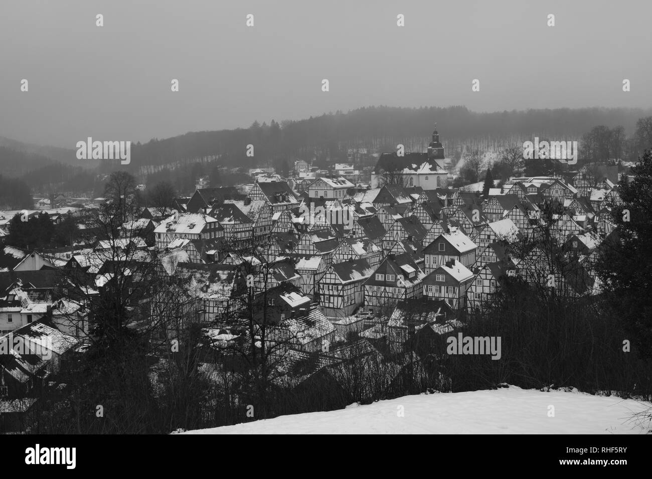 Germany Old Town of Freudenberg Nearby Cologne and Siegen - Stock Image