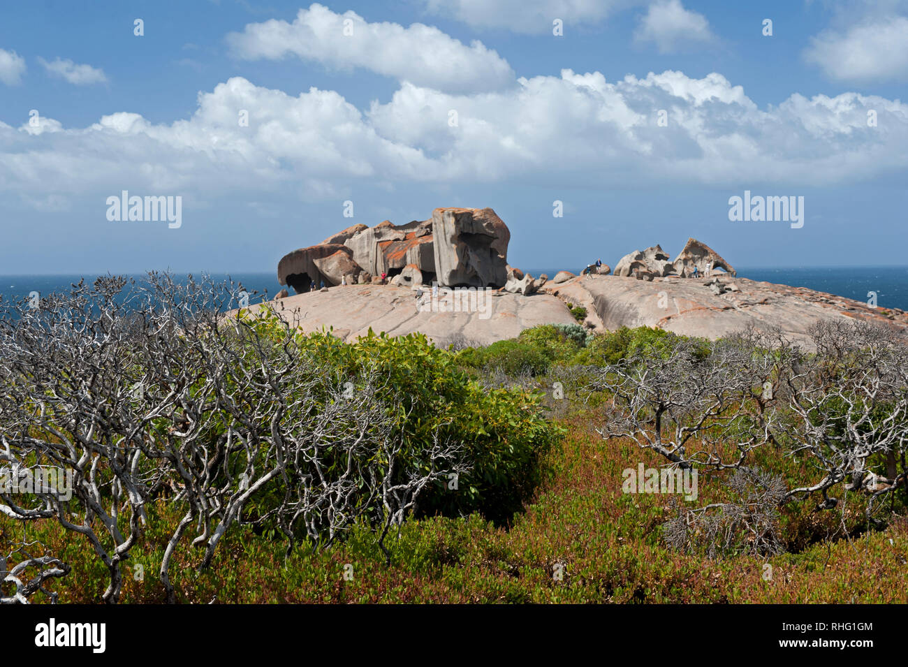 General view of Remarkable Rocks, Kangaroo Island, South Australia, Australia - Stock Image