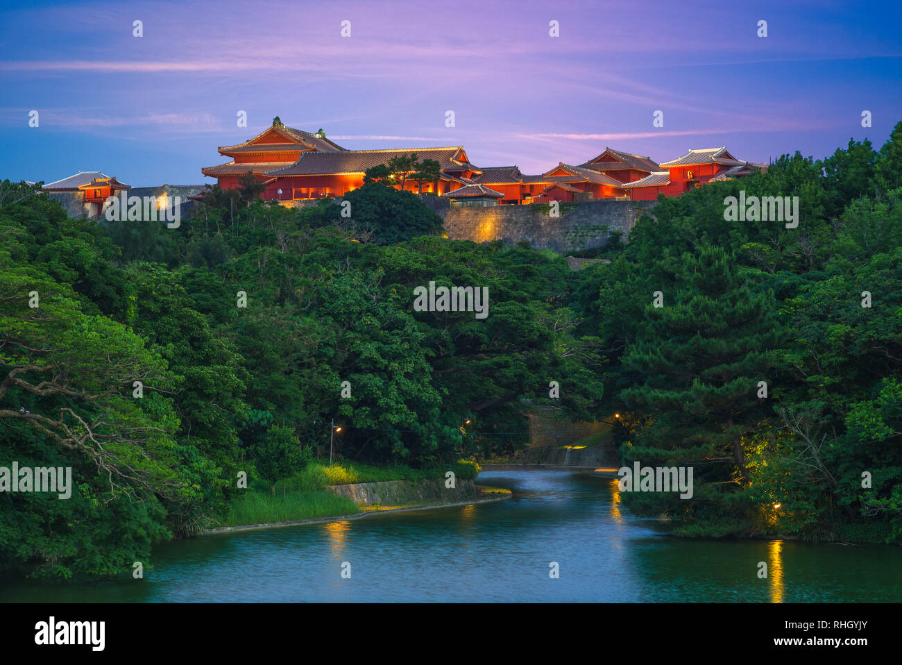 Shuri castle, a Ryukyuan gusuku in Shuri, Okinawa - Stock Image