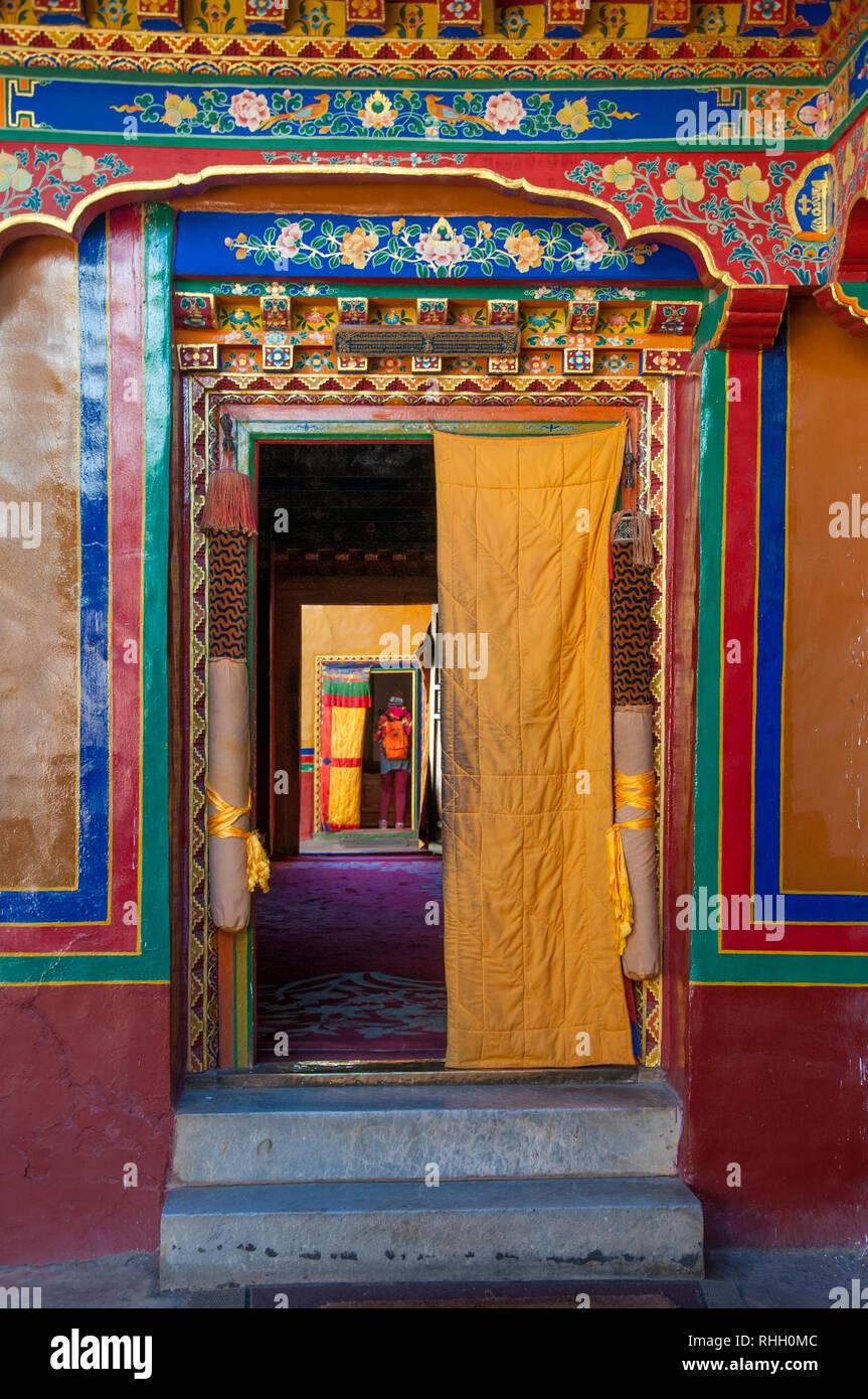 Takten Migyur Podrang or New Summer Palace of the 14th Dalai Lama (1954-1959) at Norbulingka Summer Palace, Lhasa - Stock Image