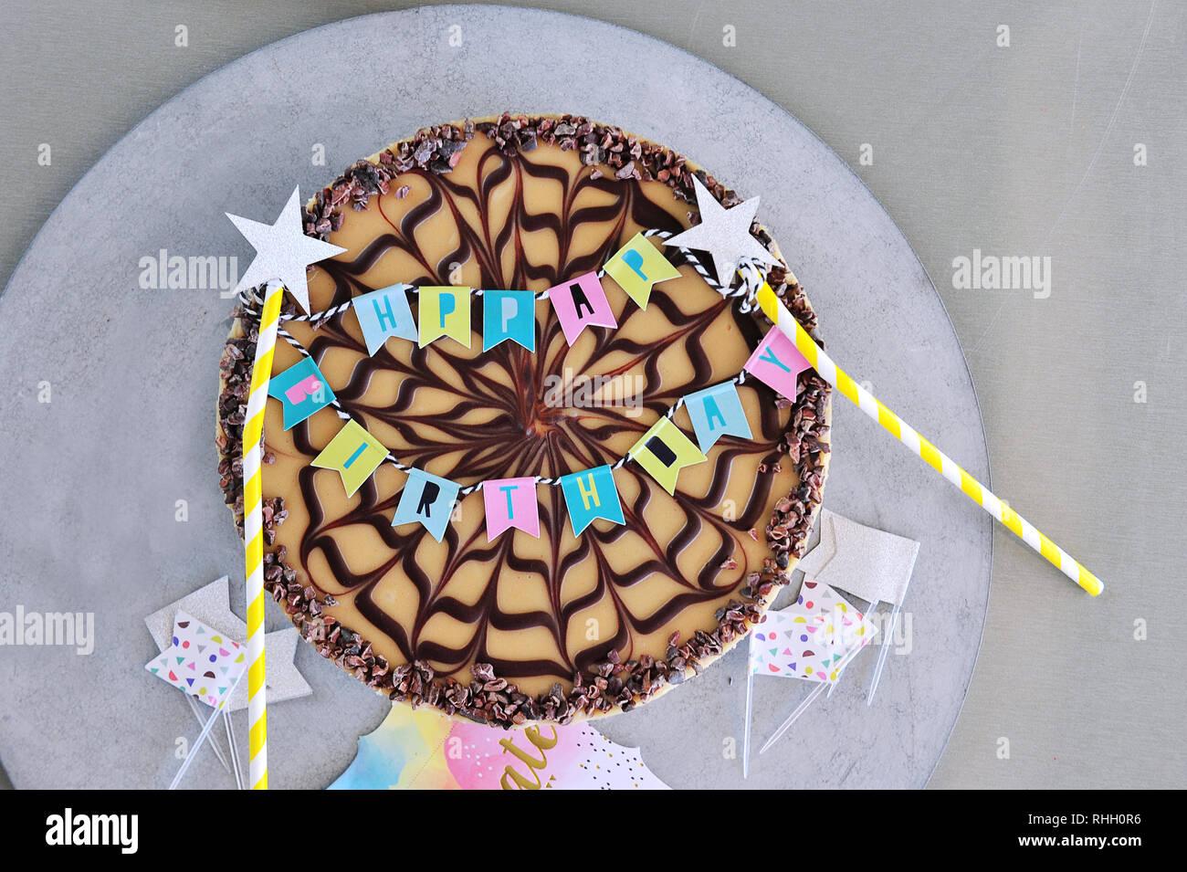 Awe Inspiring Raw Vegan Birthday Cake Organic Ingredients Stock Photo Funny Birthday Cards Online Eattedamsfinfo