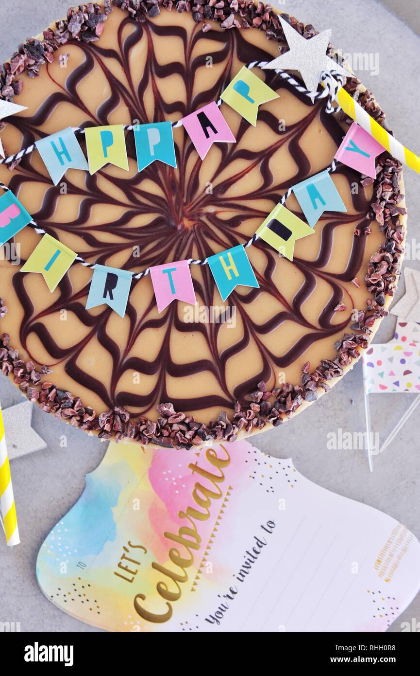 Remarkable Raw Vegan Birthday Cake Organic Ingredients Stock Photo Funny Birthday Cards Online Eattedamsfinfo