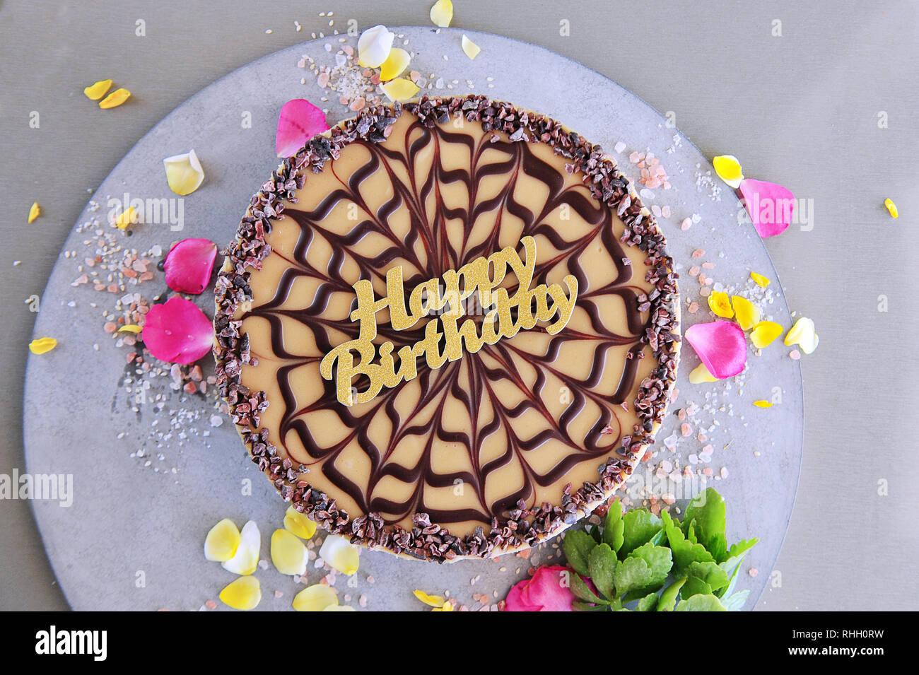 Pleasing Raw Vegan Birthday Cake Organic Ingredients Stock Photo Funny Birthday Cards Online Eattedamsfinfo
