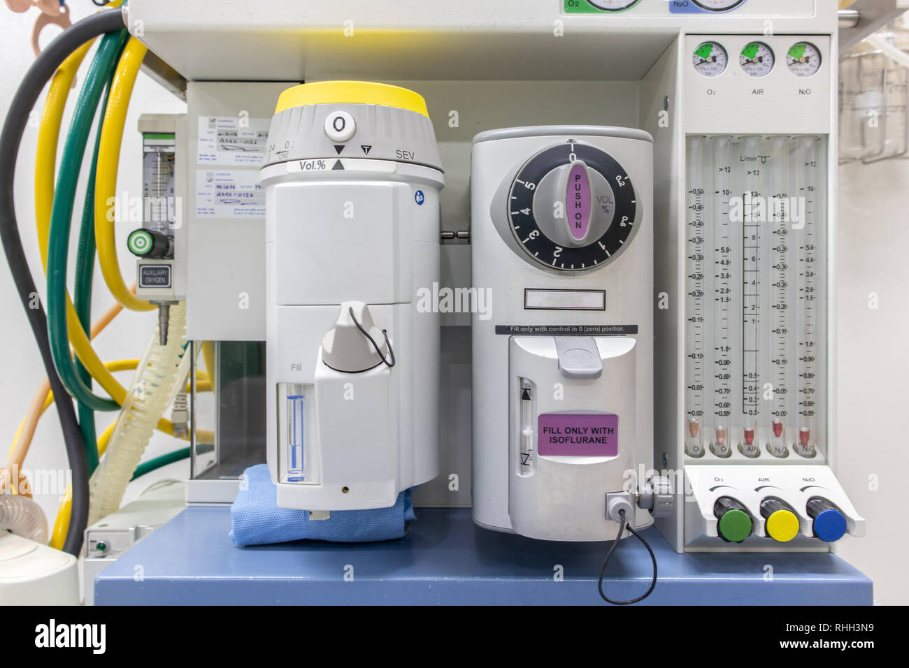 Anesthesia Machine in hospital operating room. Stock Photo