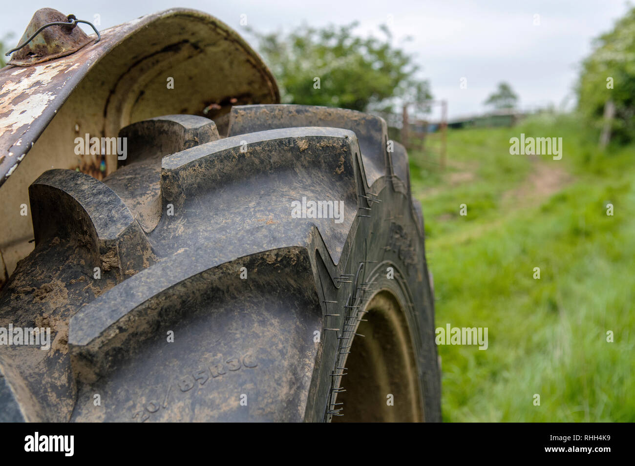 Tractor Tyre - Stock Image