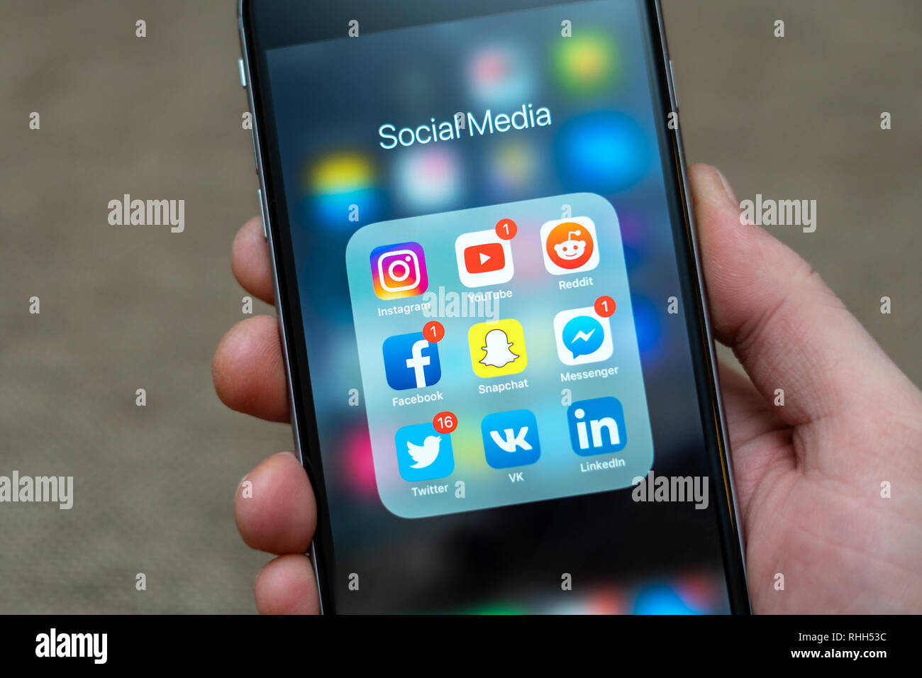 Social Media Icons Phone Stock Photos & Social Media Icons Phone