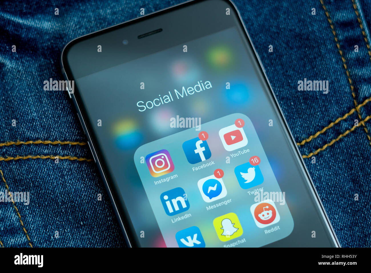 Social Media Icons Hand Stock Photos & Social Media Icons Hand Stock