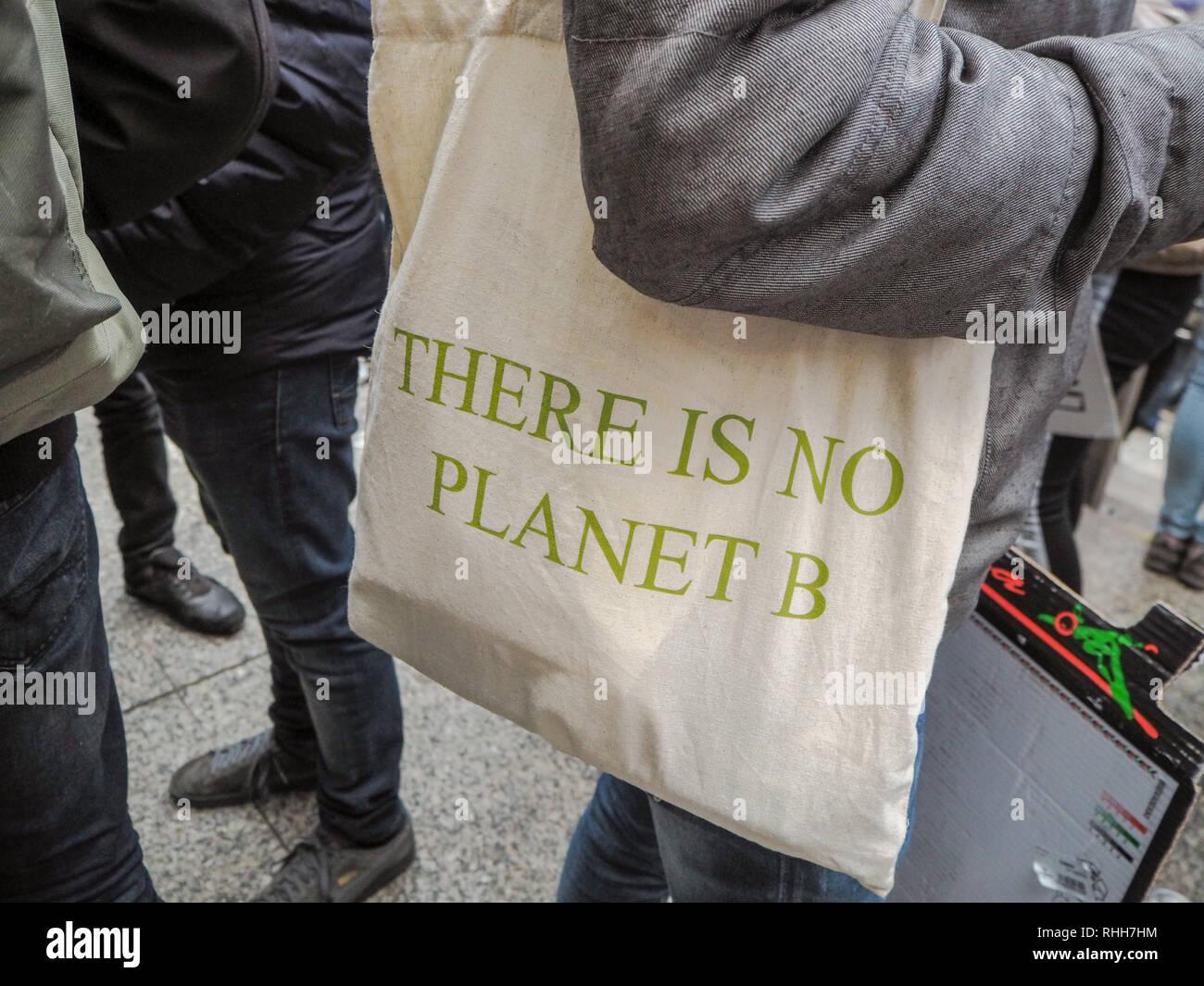 NO PLANET B TOTE BAG FOR LIFE extinction rebellion climate change ECO VEGAN