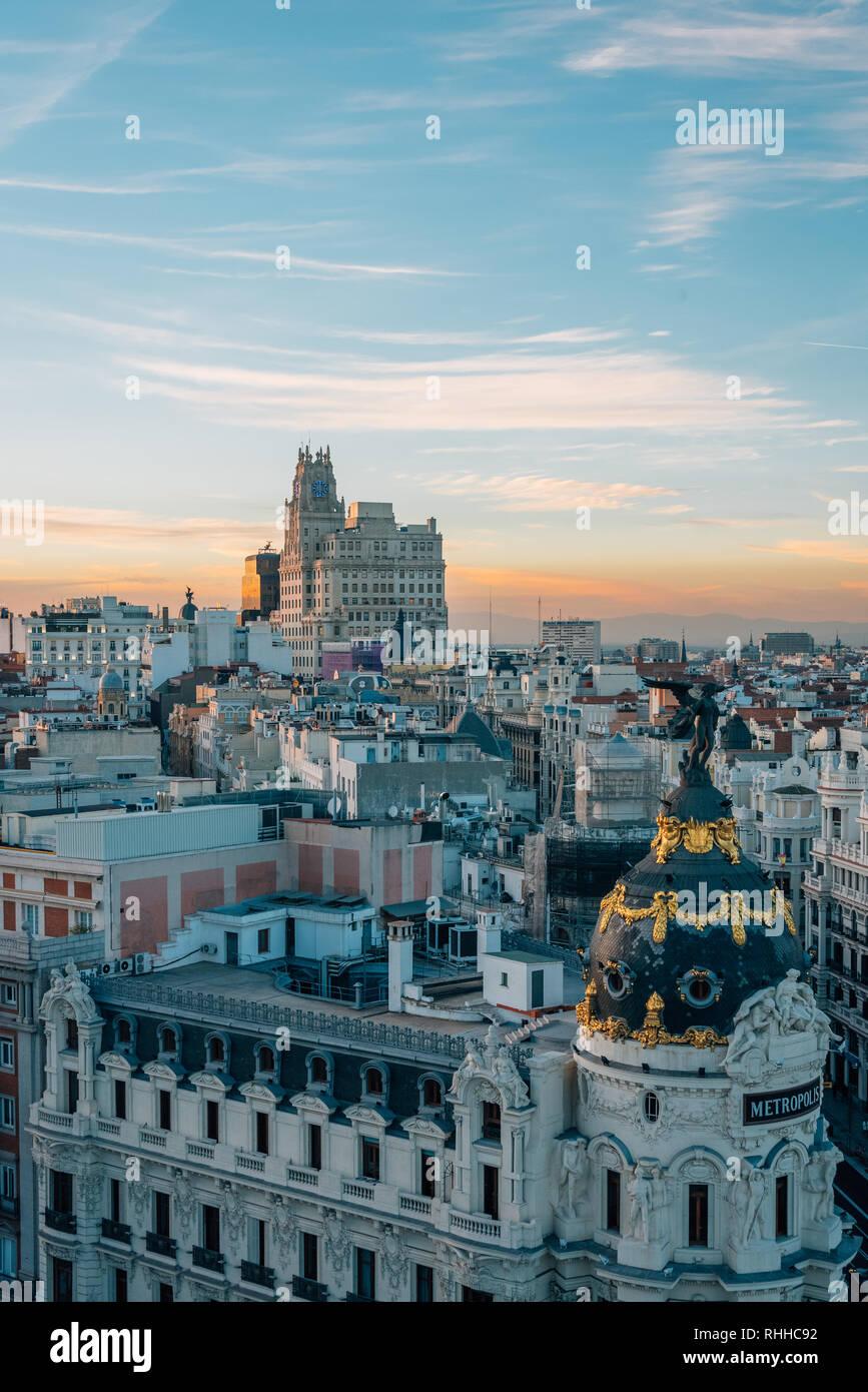 View Of Gran Via From The Circulo De Bellas Artes Rooftop At