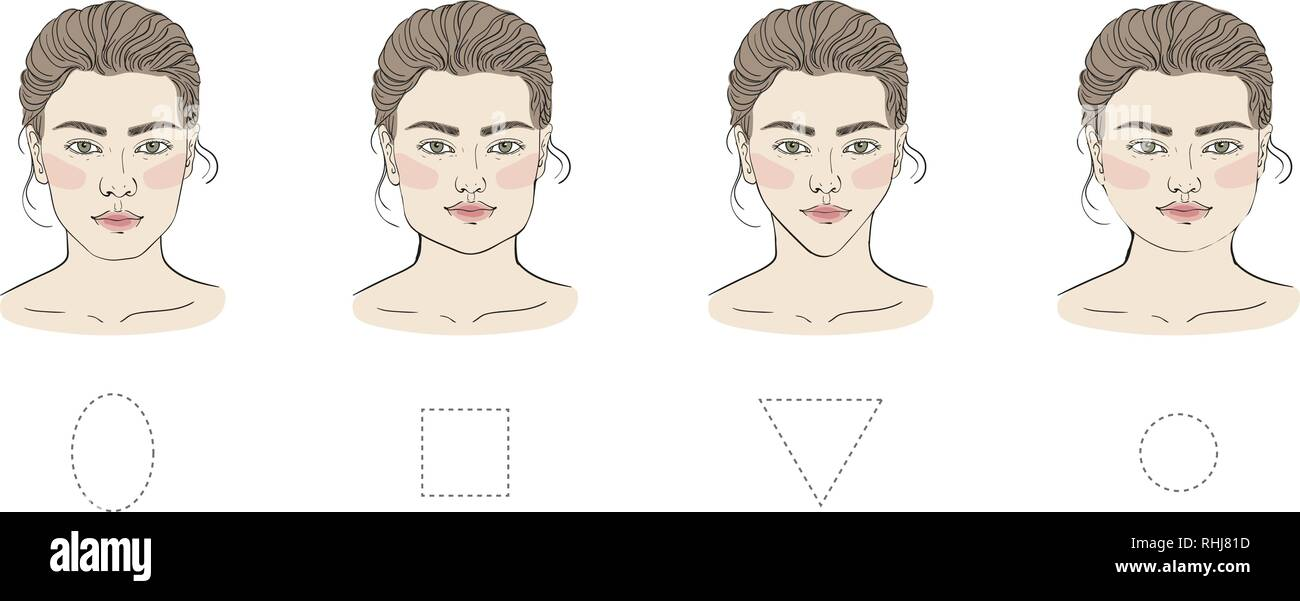 Magnificent Different Female Face Shapes With Different Hairstyle There Are Natural Hairstyles Runnerswayorg