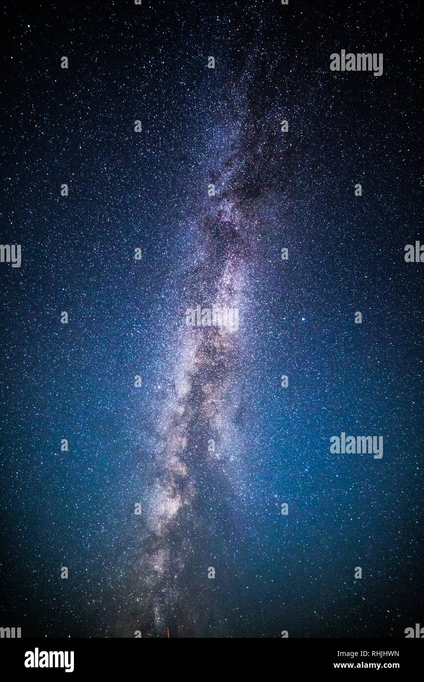 Milky Way and starry sky - Stock Image