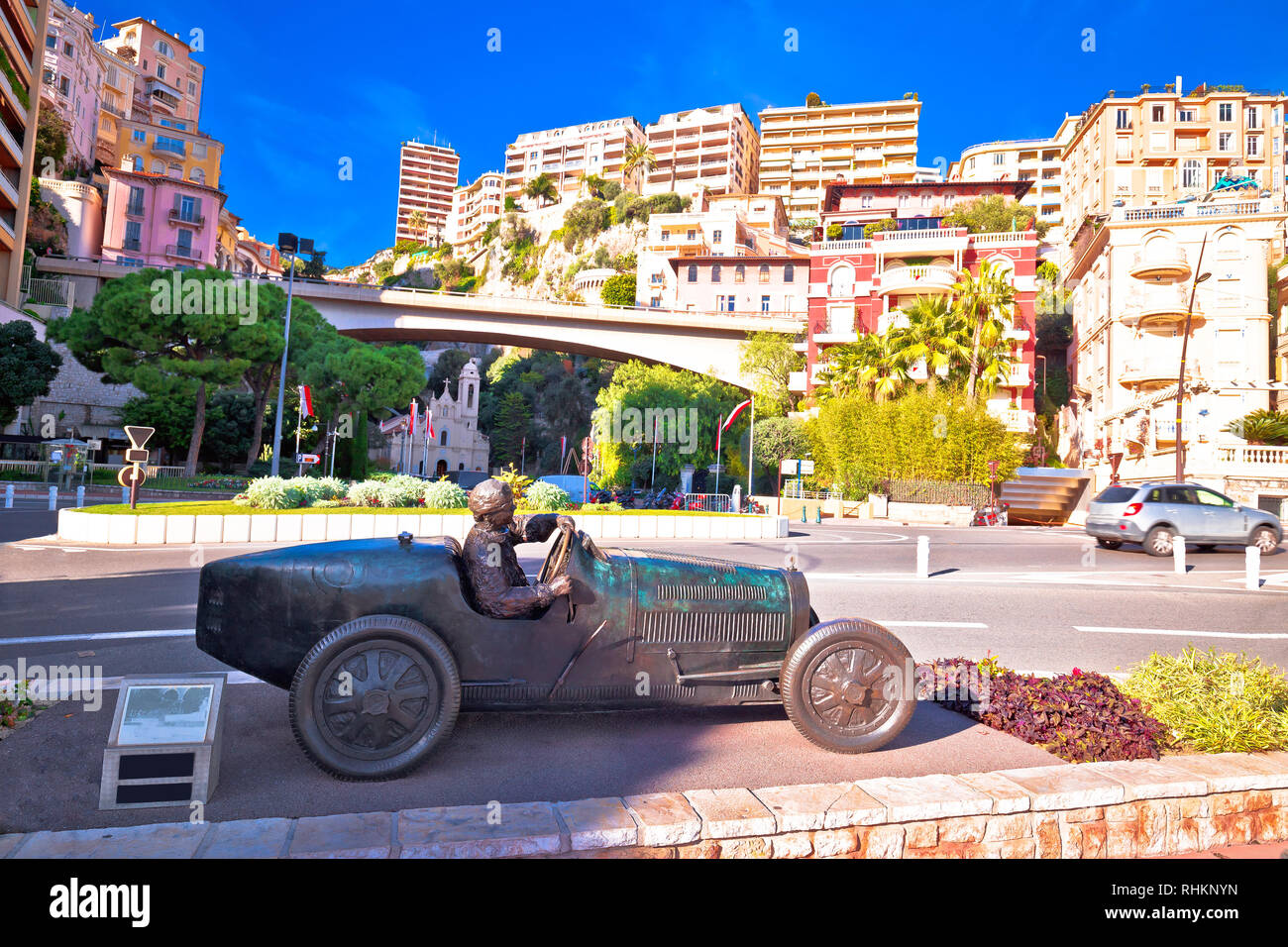 Monaco city street and landmarks view, Principality of Monaco - Stock Image
