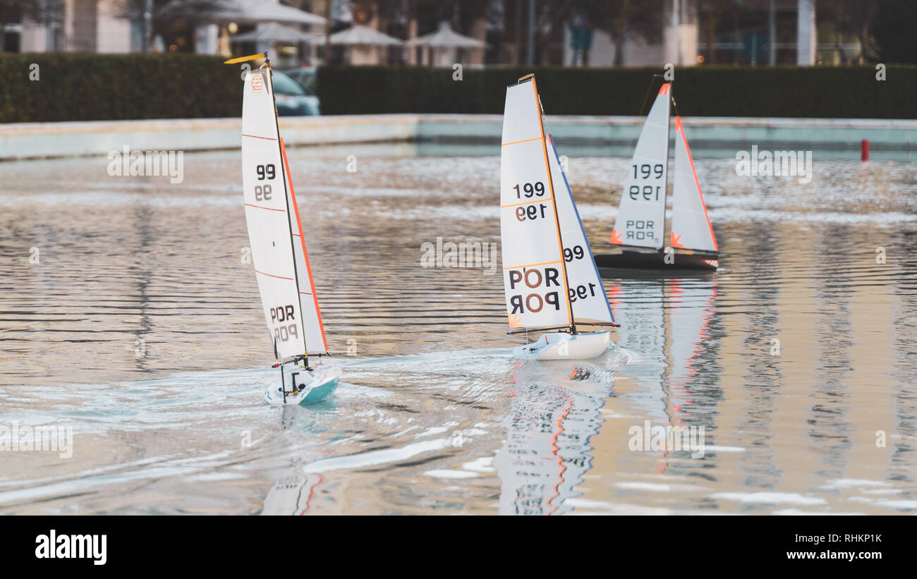 Remote Control Sailing Boats Stock Photos & Remote Control Sailing
