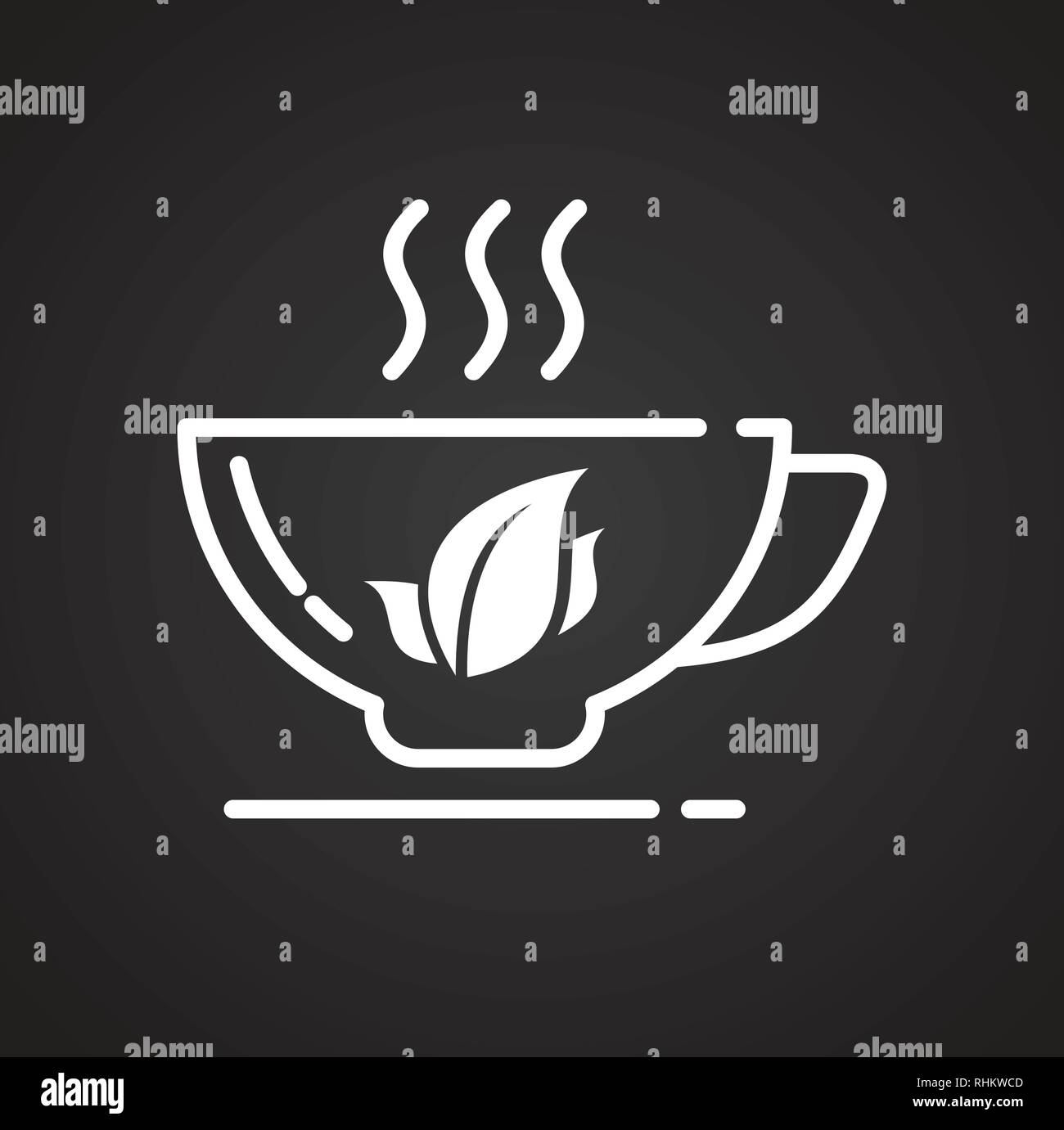 tea outline icon on black background for graphic and web design modern simple vector sign internet concept trendy symbol for website design web button or mobile app stock vector image art alamy