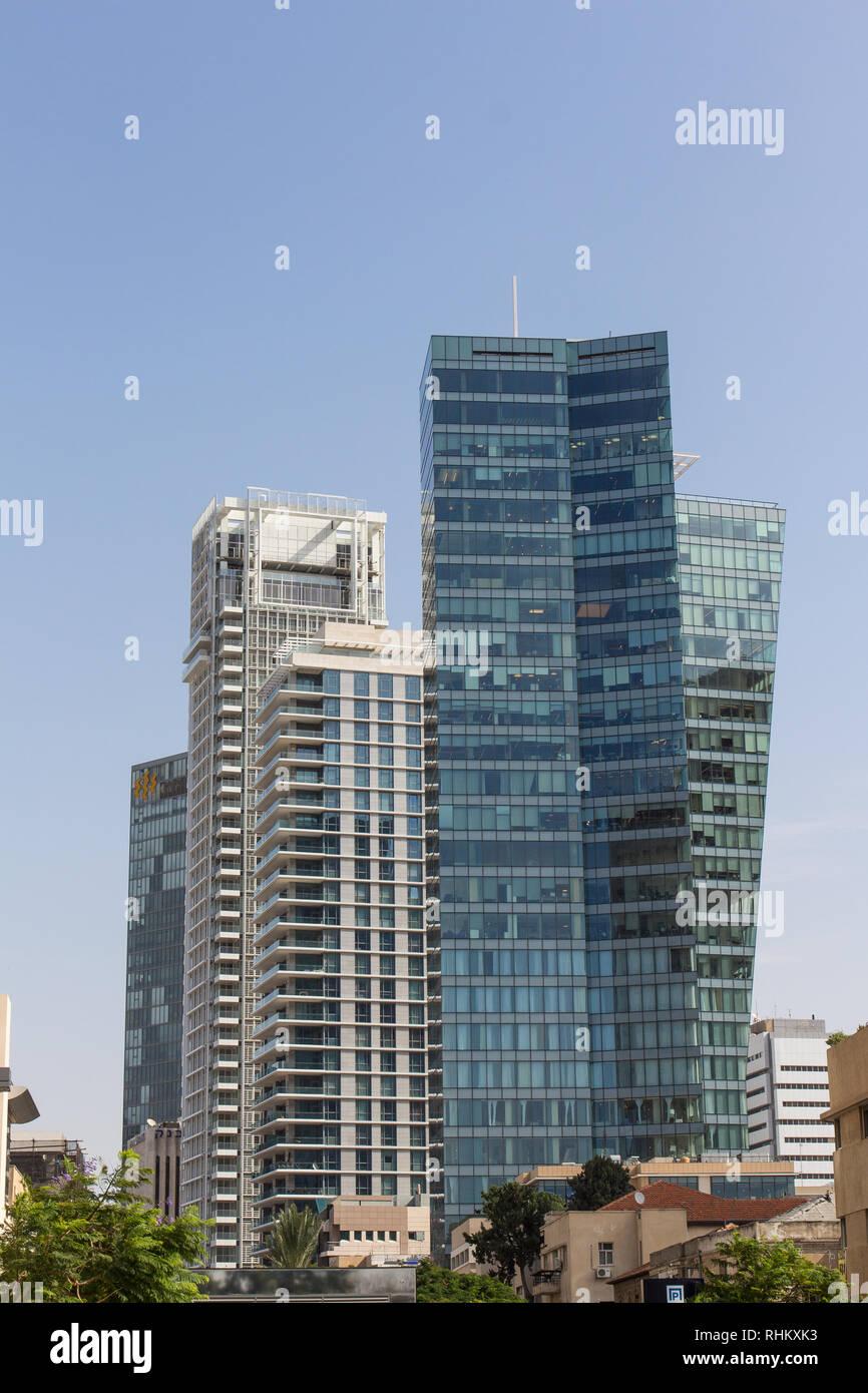Rothschild Boulevard, Tel Aviv, Israel - Stock Image
