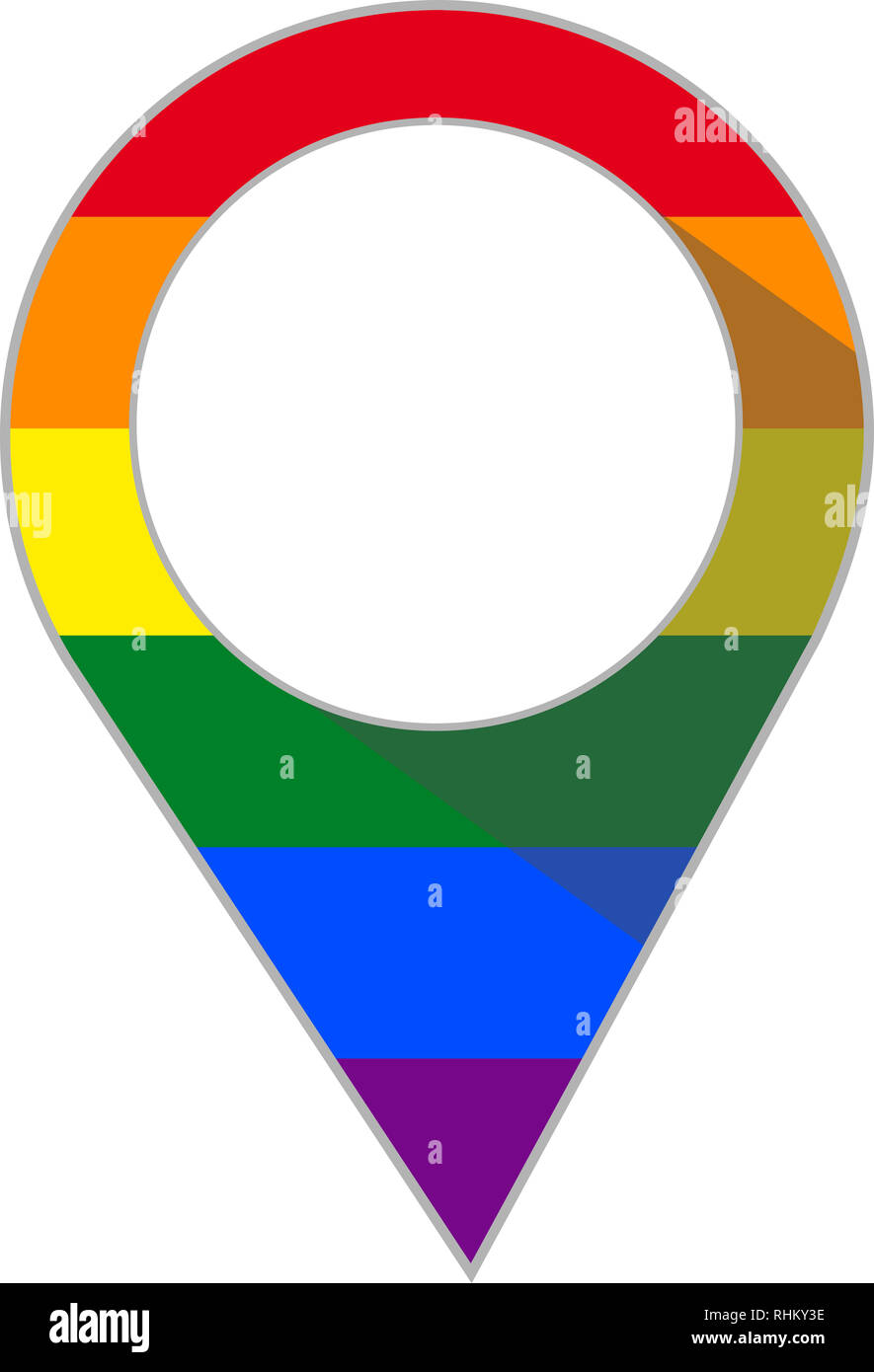 Pin with gay rainbow flag - Stock Image