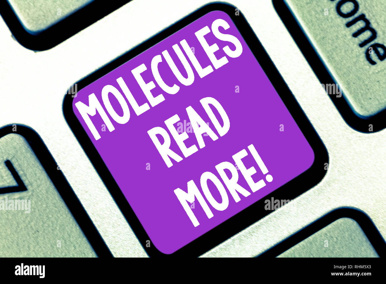 Writing note showing Molecules Read More  Business photo