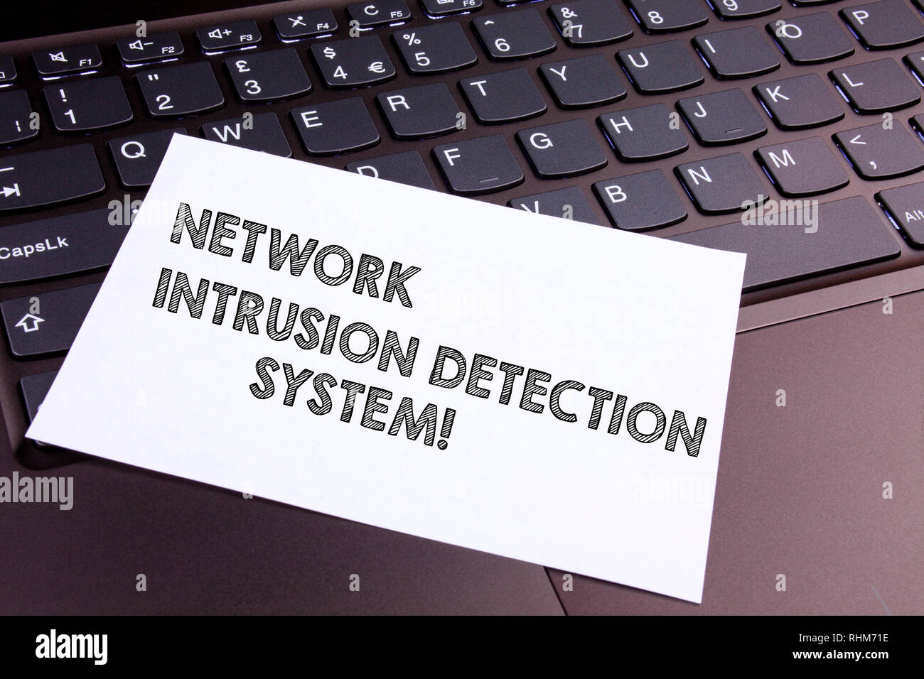 Text sign showing Network Intrusion Detection System. Conceptual photo Safety security multimedia systems - Stock Image