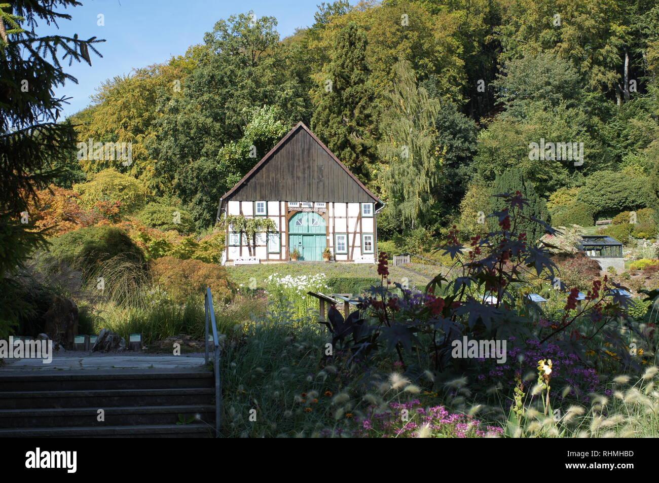 botanic garden Bielefeld Stock Photo